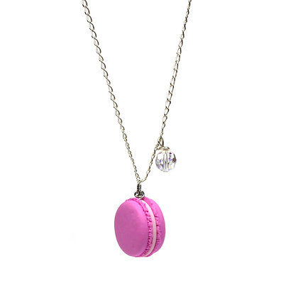 My Fave Raspberry Macaron Necklace