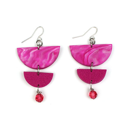 Give me Marble Hot Pink Statement earrings