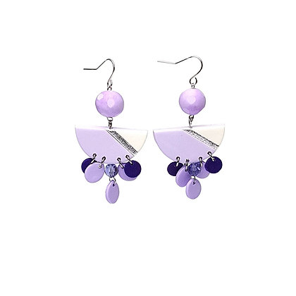 Simply and Chic Vol.2 Lilac Statement earrings