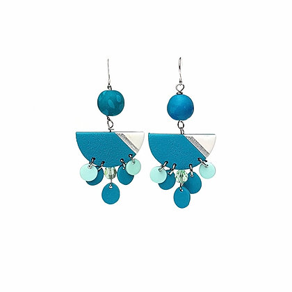Simply and Chic Vol.2 Turquoise Statement earrings