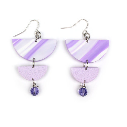 Give me Marble Lilac Statement earrings