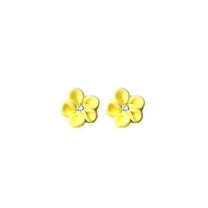 Flower Me Pretty Stud Yellow earrings with Swarovski Strass