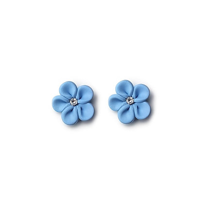 Flower Me Pretty Stud Light Blue earrings with Swarovski Strass