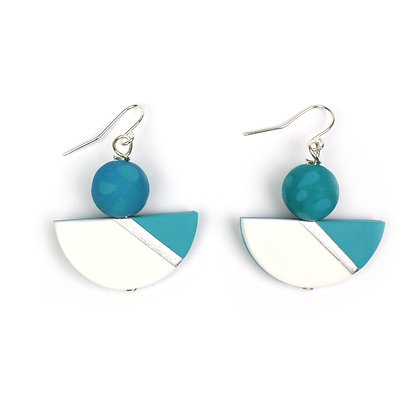 Simply and Chic Turquoise Statement earrings
