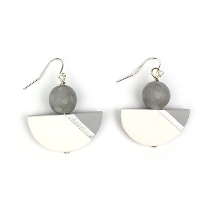 Simply and Chic Grey Statement earrings