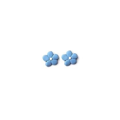 Easy Flower Stud Light Blue earrings