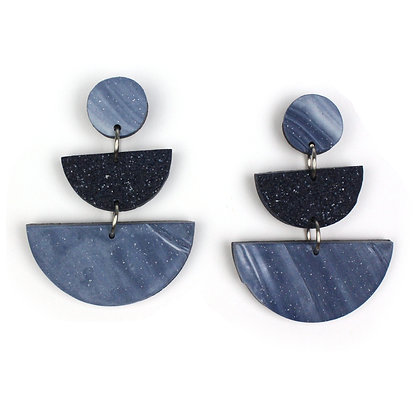 Oh my Marble Stardust Statement earrings