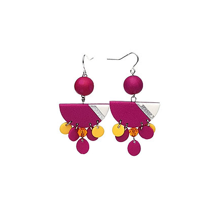 Simply and Chic Vol.2 Hot Pink Statement earrings