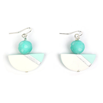 Simply and Chic Aqua Statement earrings