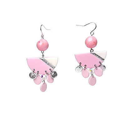 Simply and Chic Vol.2 Pink Statement earrings