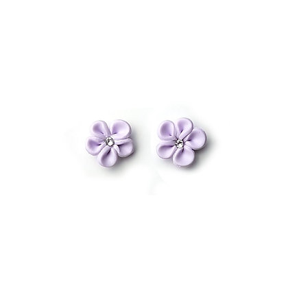 Flower Me Pretty Stud Lilac earrings with Swarovski Strass