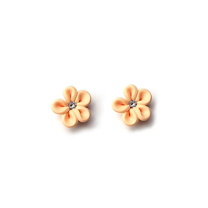 Flower Me Pretty Stud Peach earrings with Swarovski Strass
