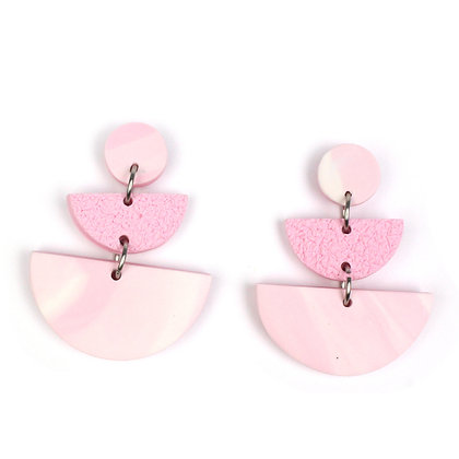 Oh my Marble Pink Statement earrings
