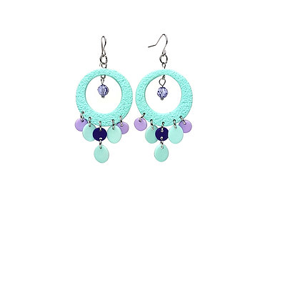 Festival Fever Aqua Statement earrings