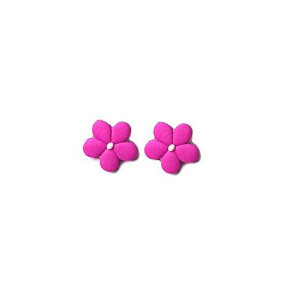 Easy Flower Stud Hot Pink earrings