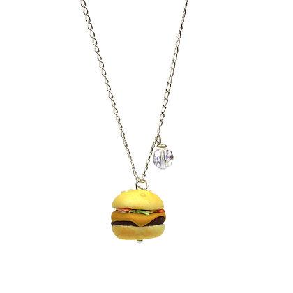 Aussie bbq burger necklace