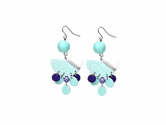 Simply and Chic Vol.2 Aqua Statement earrings