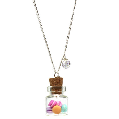 Give me more Macarons, Tiny Jar Necklace