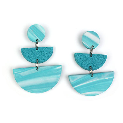 Oh my Marble Turquoise Statement earrings