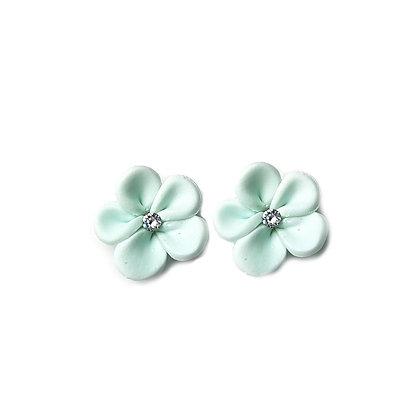 Flower Me Pretty Stud Aqua earrings with Swarovski Strass