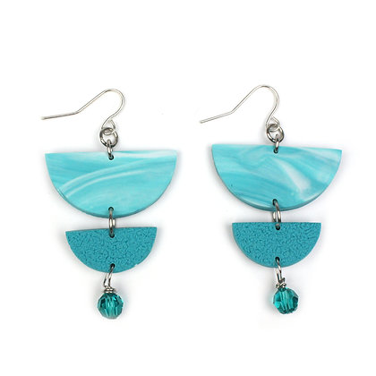 Give me Marble  Turquoise Statement earrings