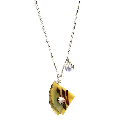 Take a French Break Crepes Necklace