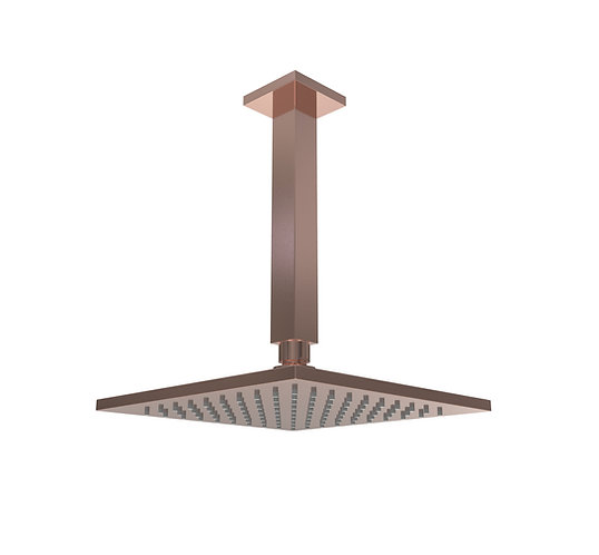 Brunetti Overhead Ceiling Shower Brushed Rose Gold