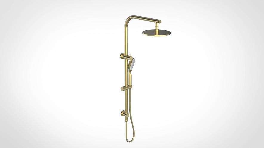 Bassini Combination Shower Brushed Gold