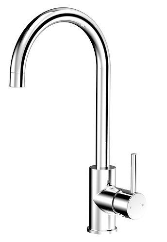 Senza Round Gooseneck Sink Mixer Chrome