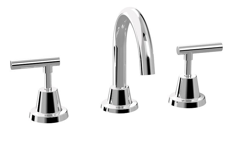 Meno Lever Basin Set Chrome