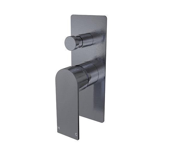 Brunetti Wall Diverter Mixer Gun Metal