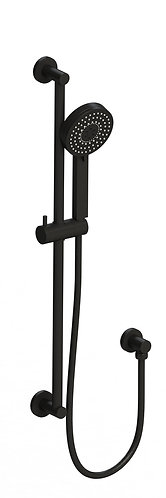 Senza Multi Function Shower with Rail Black
