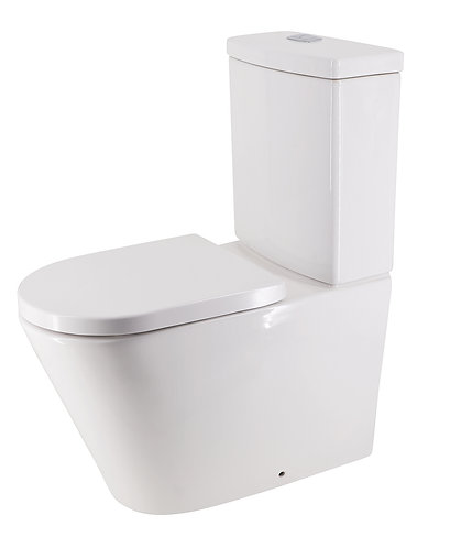 Bassini Back-to-Wall Toilet Suite Back-Entry with Standard Soft-Close Seat