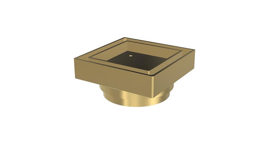 100mm Tile Insert Waste Brass