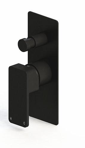 Rondo Wall Diverter Mixer Black