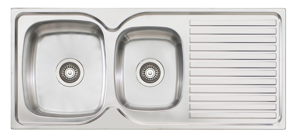 Bassini Sink 1 & 3/4 Bowl With Drainer