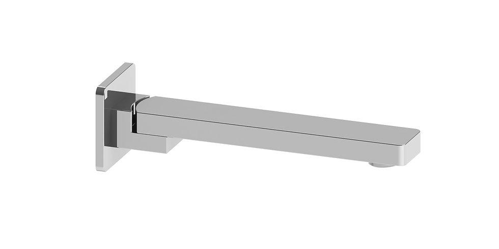 Rondo Wall Bath Spout Swivel 195mm Chrome