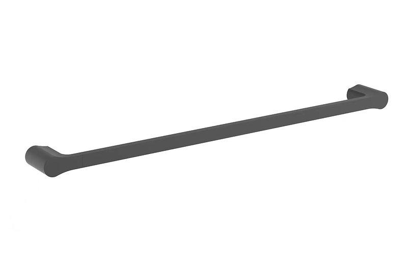Bassini 600mm Single Towel Rail Matt Black