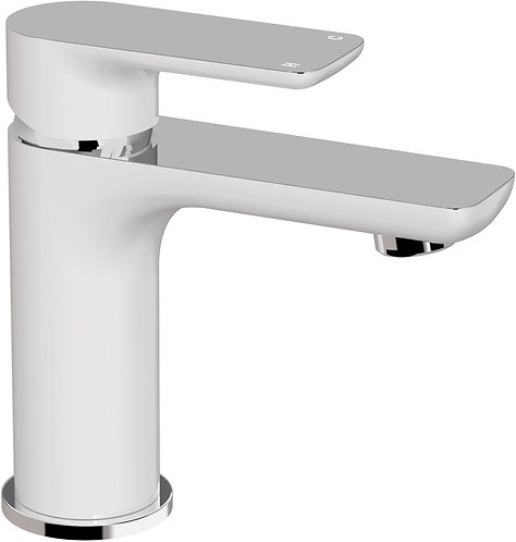 Bassini Basin Mixer White/Chrome