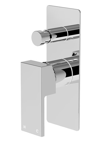 Alto Wall Diverter Mixer Chrome