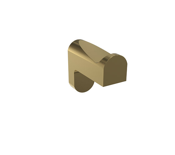 Bassini Robe Hook Brushed Brass