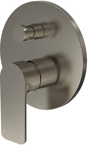 Bassini Wall Diverter Mixer Brushed Chrome
