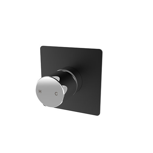 Handel Wall Mixer Black with Chrome Square