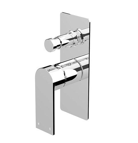 Brunetti Wall Diverter Mixer Chrome