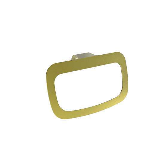 Bassini Towel Ring Brushed Gold