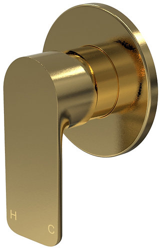 Bassini Wall Mixer Brushed Brass