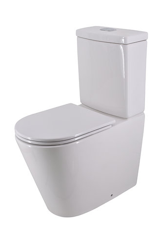 Bassini Back-to-Wall Extra Height Toilet Suite Slim Soft Close Seat
