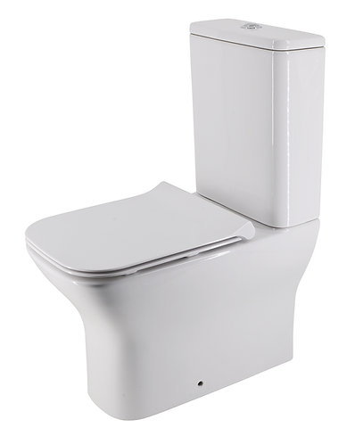 Brunetti Back-to-Wall Rimless Toilet Suite with Slim Soft-Close Seat