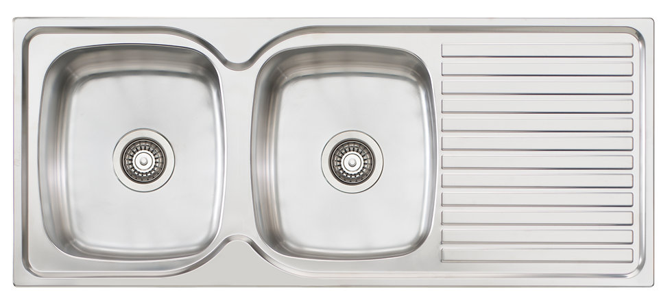 Bassini Sink Double Bowl With Drainer