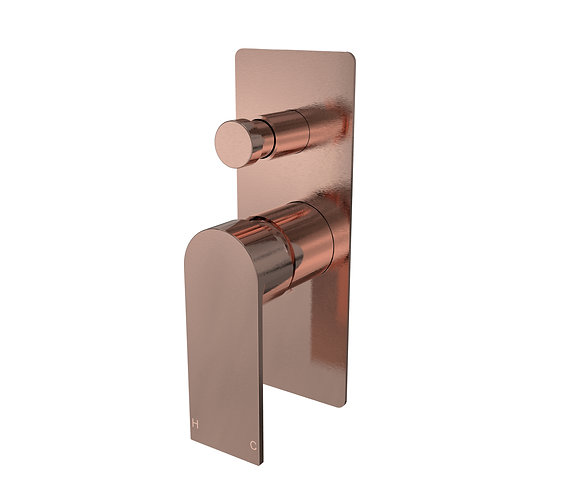 Brunetti Wall Diverter Mixer Brushed Rose Gold